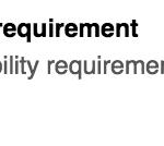 Eligibility requ